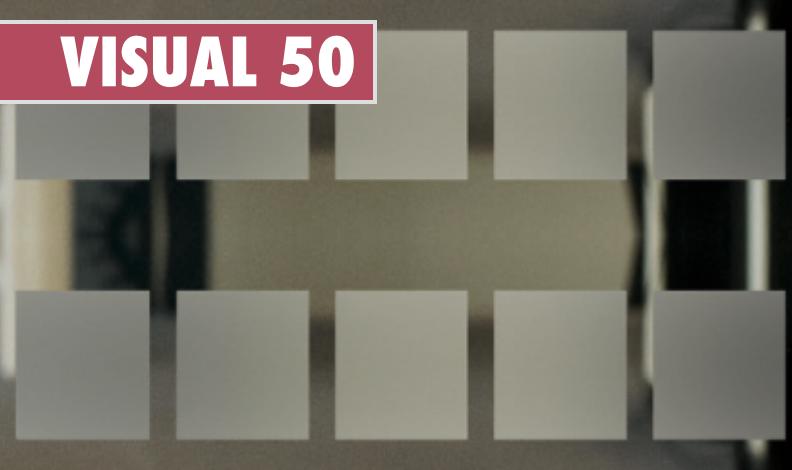 VISUAL 50 - Carrés dépolis de 5cm x 10m